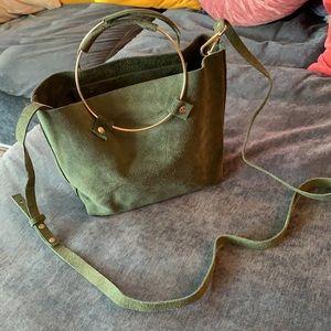 Olive Green Suede bag